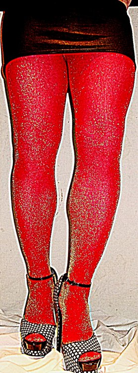 Music Legs red and gold lurex tights black mini.JPG