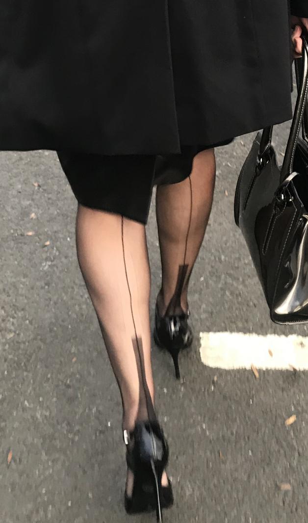 Matures in stockings